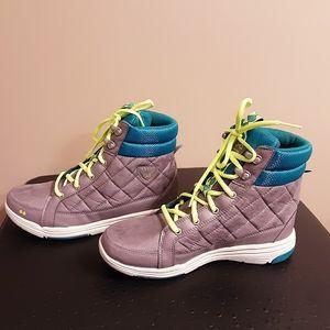 RYKA 7W High top sneakers | Grey w/green & teal